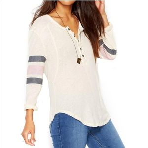 Free People | Game Day Striped Henley Top